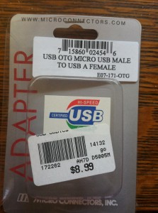USB OTG Cable - straight