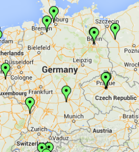 Germany & Austria map