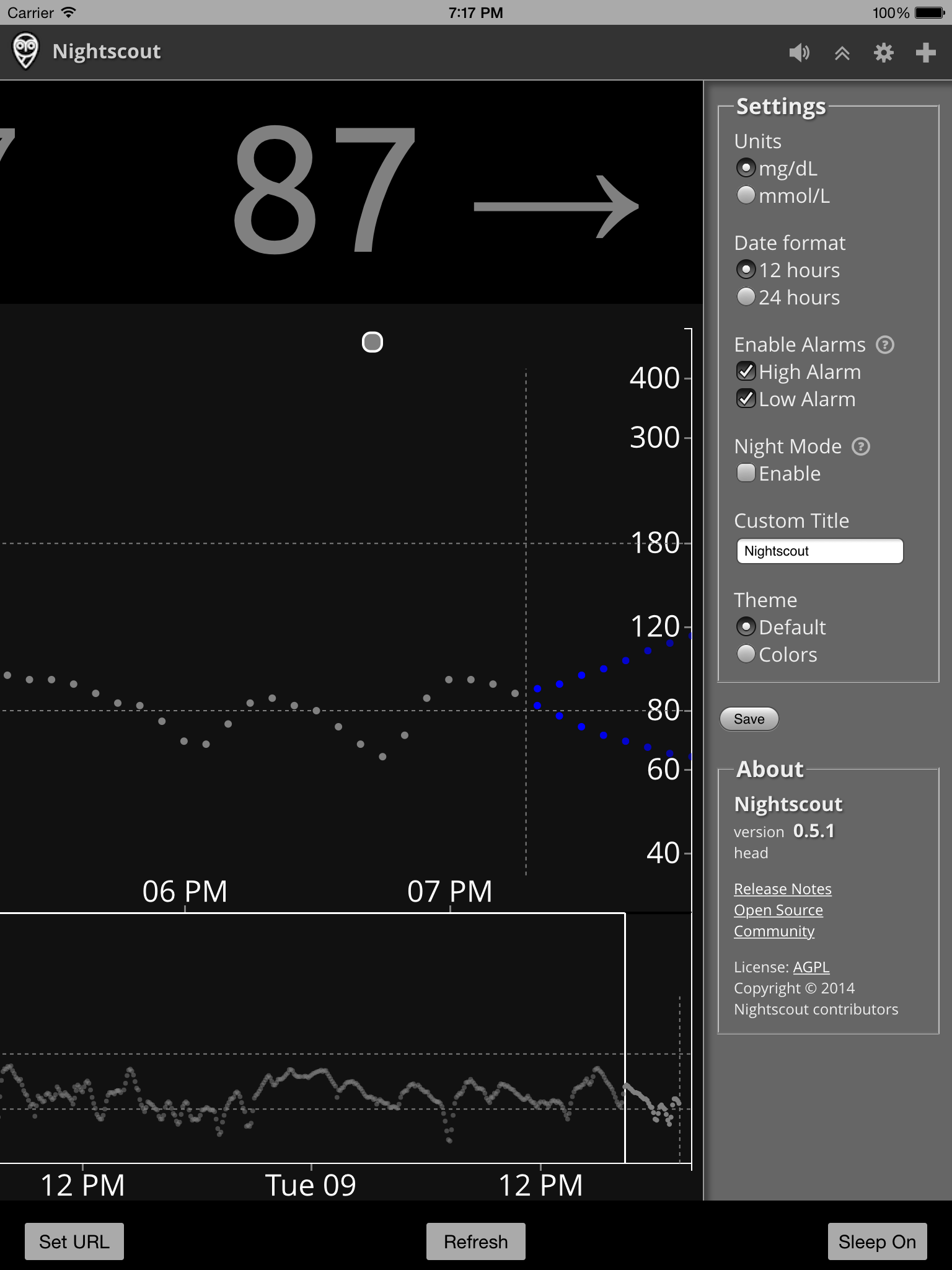 Nightscout Viewer for iOS (Optional) – The Nightscout Project