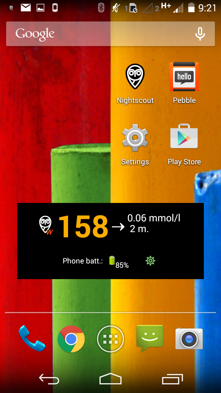 Use NightWidget to view data on your Android phone (Optional) – The